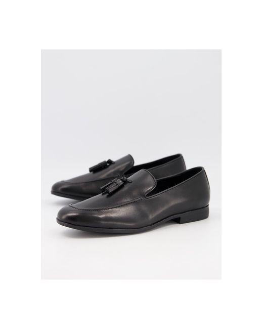 Office Black Manage Tassel Loafers for men
