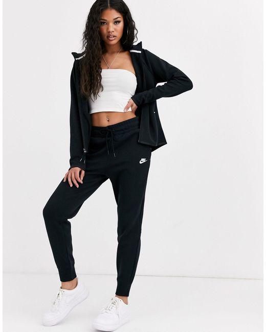 Черные Флисовые Джоггеры Tech-серый Nike, цвет: Gray