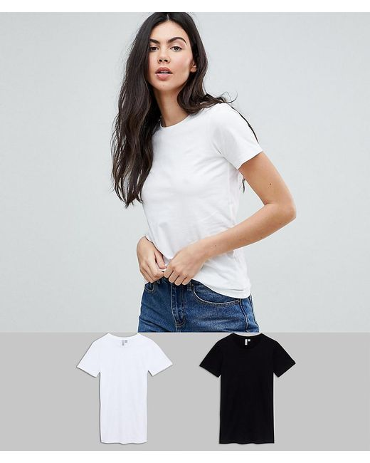 ASOS - Multicolor Asos Design Tall Ultimate Crew Neck T-shirt 2 Pack Save 15% - Lyst