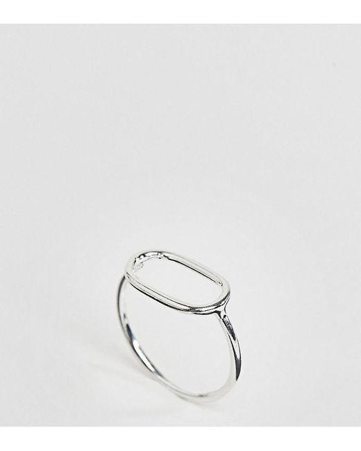 ASOS | Metallic Sterling Silver Open Circle Ring | Lyst