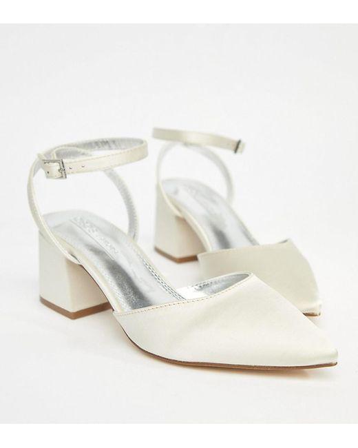 407c1ebeca ASOS - Multicolor Asos Scarlette Bridal Mid Heels - Lyst ...