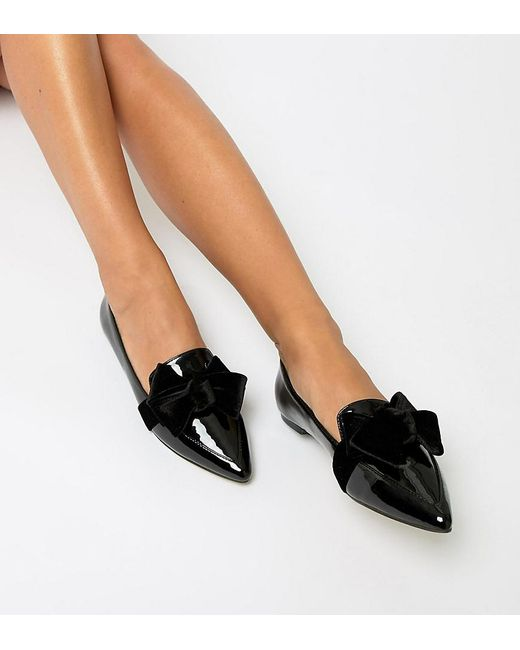 5671a3ff0 ASOS Wide Fit Ludo Ballet Flats Loafers in Black - Save 22% - Lyst