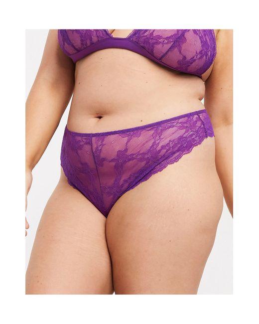 Кружевные Стринги ASOS, цвет: Purple