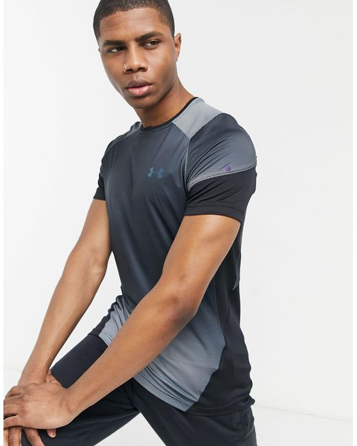 Under Armour Black Training Rush 2.0 Printed T-shirt for men