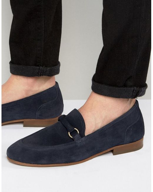 H by Hudson   Blue Renzo Suede Loafers for Men   Lyst
