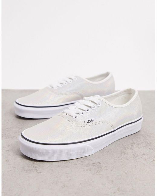 Белые Замшевые Кеды С Переливающейся Отделкой Ua Authentic-белый Vans, цвет: White
