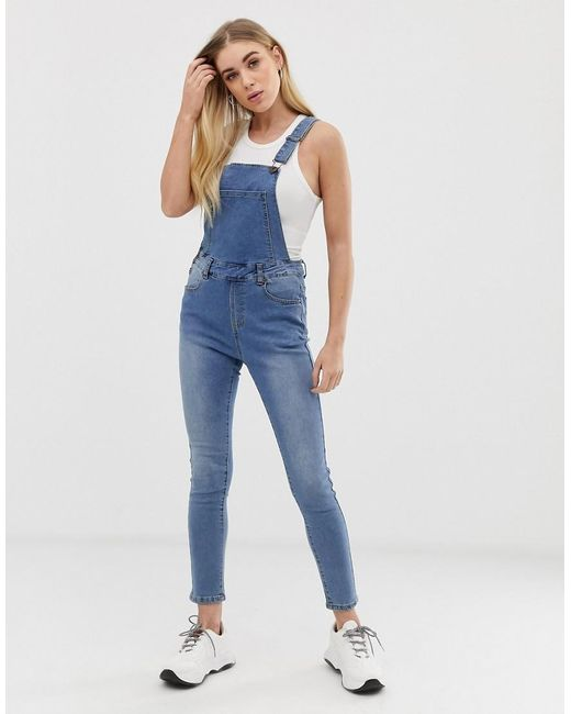 newest style special sales 100% satisfaction guarantee Women's Blue Skinny Fit Dungarees