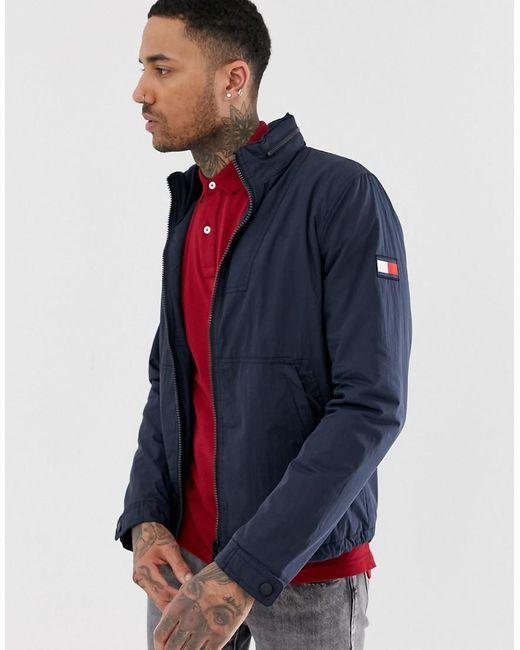 Tommy Hilfiger Blue Padded Cotton Jacket for men