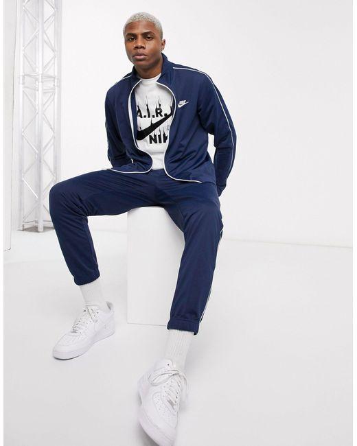 Темно-синий Спортивный Костюм На Молнии Nike для него, цвет: Blue