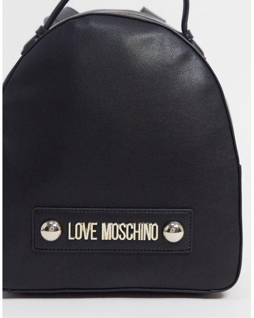 Черный Рюкзак С Шарфом Love Moschino, цвет: Black