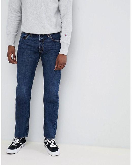 8cfc33b5 Levi's - 501 Skinny Fit Standard Rise Jeans Luther Dark Wash Blue for Men  ...