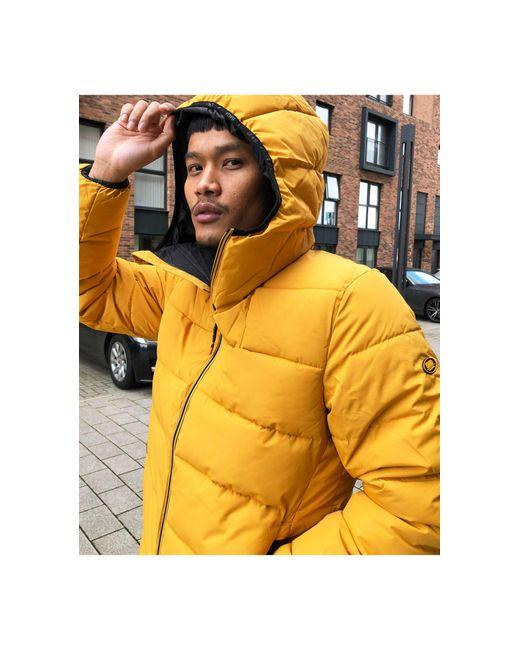 Желтая Дутая Куртка С Капюшоном -желтый Pull&Bear для него, цвет: Yellow