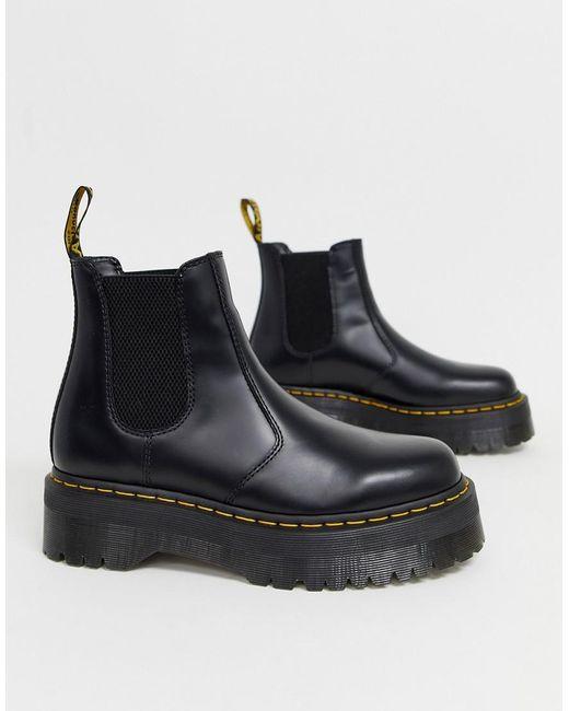 Черные Ботинки Челси На Платформе 2976 Quad-черный Dr. Martens для него, цвет: Black
