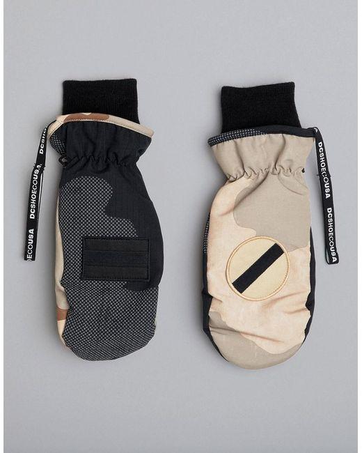 DC Shoes - Black Moufles motif camouflage for Men - Lyst