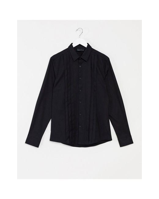 ASOS Black Leather Obi Waist Belt for men