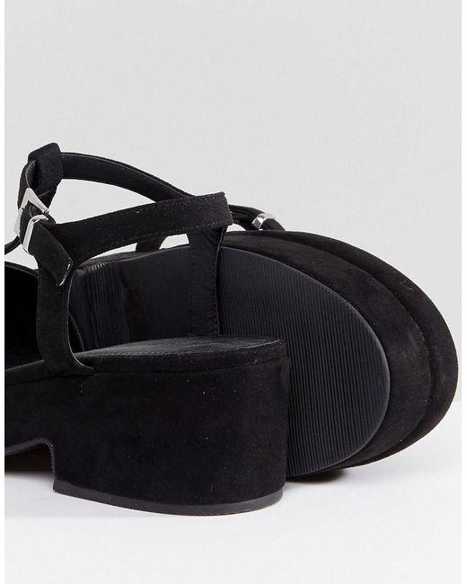 ASOS TOPAL Wide Fit T-Bar Shoes PH9BgFZ5