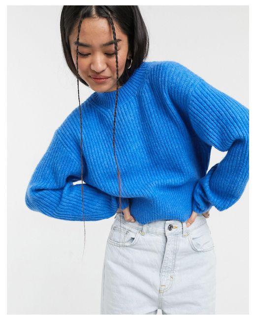 Синий Джемпер Jessa-голубой Weekday, цвет: Blue