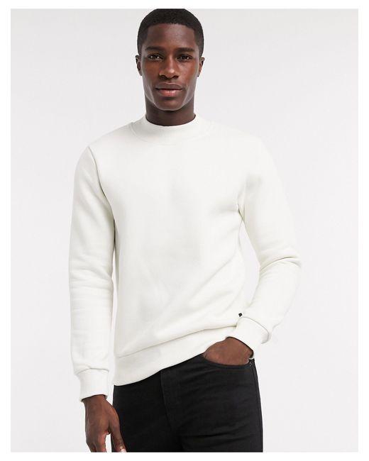 Светлый Свитшот С Высоким Воротником Premium-белый Jack & Jones для него, цвет: White