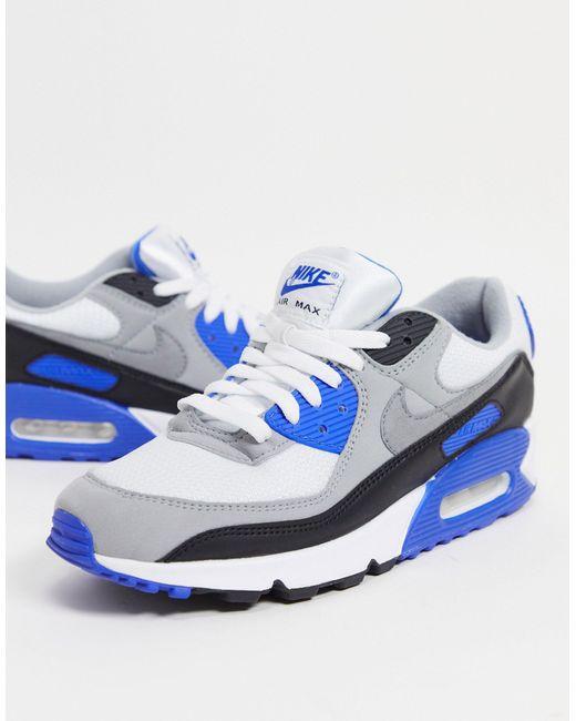 Air Max 90 - Baskets - et bleu Nike pour homme en coloris Bleu - Lyst