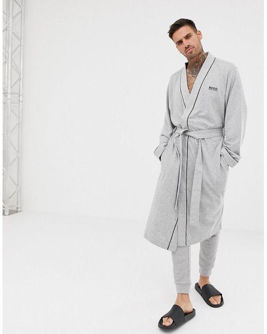 BOSS Gray Dressing Gown for men