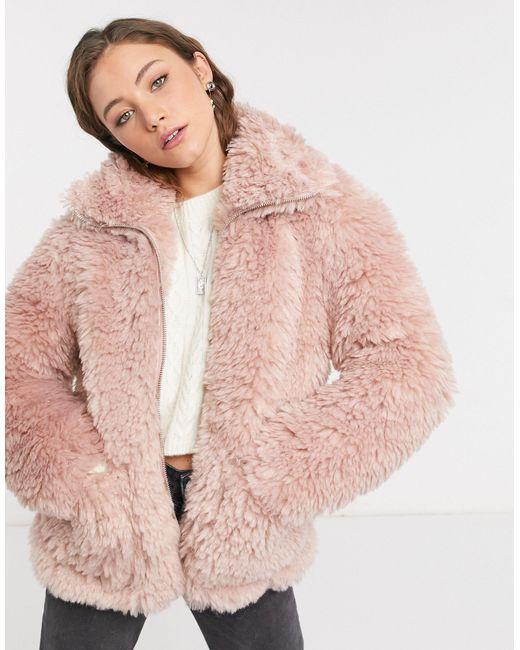 Розовая Куртка -розовый Цвет TOPSHOP, цвет: Pink