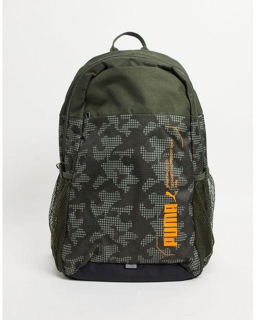 Рюкзак Цвета Хаки С Камуфляжным Принтом Style-черный Цвет PUMA для него, цвет: Multicolor