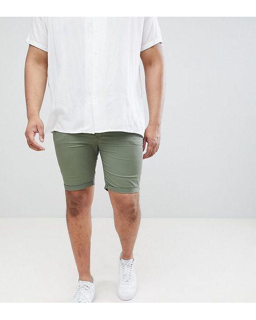 Big & Tall - Short en jean ajusté - Kaki River Island pour homme en coloris Green