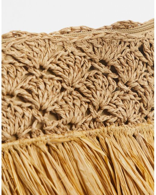 Эксклюзивная Соломенная Сумка Через Плечо -бежевый South Beach, цвет: Metallic