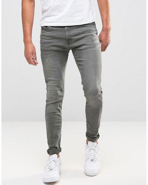 In Fit Washed Gray Men's Grey Skinny Jeans AL4Rj5