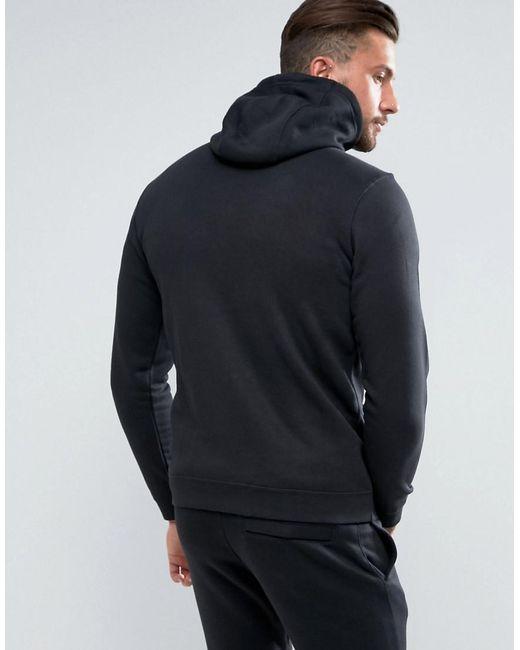917a4306e Nike Club Full Zip Hoodie In Black in Black for Men - Lyst