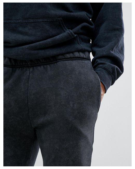 Черные Выбеленные Джоггеры -черный Reclaimed (vintage) для него, цвет: Multicolor