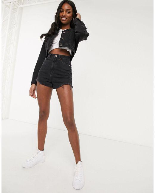 Черная Джинсовая Куртка ASOS, цвет: Black