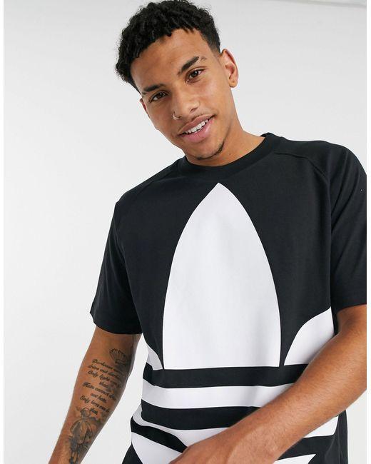 Черная Футболка С Большим Логотипом-трилистником -черный Adidas Originals для него, цвет: Black