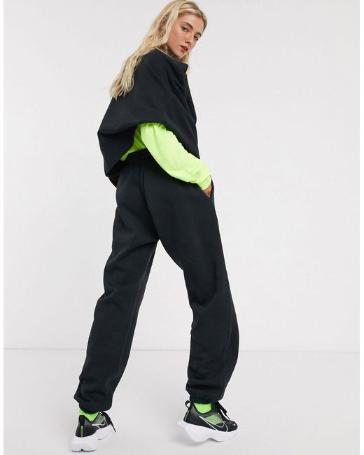Nike Black Mini Swoosh Oversized Trackies