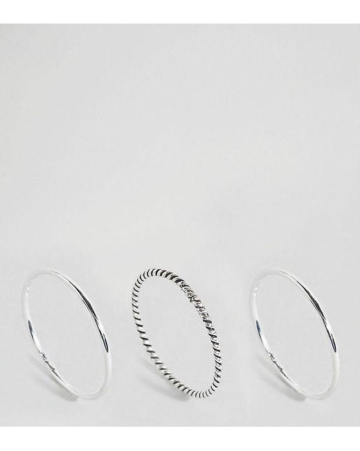 Kingsley Ryan - Metallic Sterling Silver Stacking Rings - Lyst