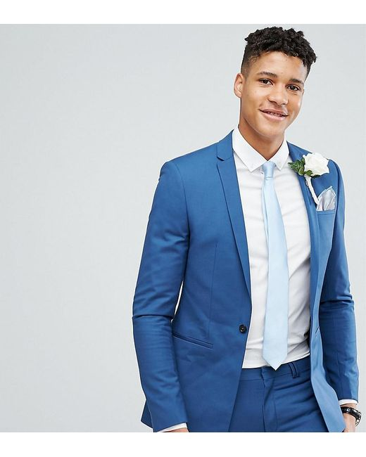 Lyst - Noak Tall Super Skinny Wedding Suit Jacket With Square Hem ...