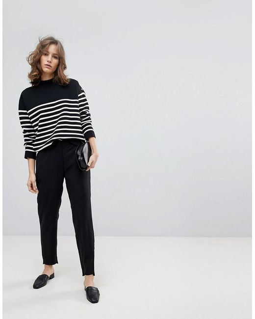 SELECTED - Black Tailored Trouser Pants - Lyst