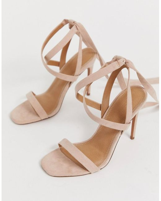 93c3e8a89f4 Women's Pink Hollis Barely There Heeled Sandals
