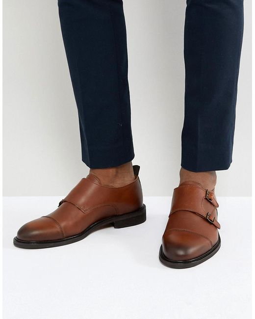 Selected Leather Double Monk Shoes BDkEnJ