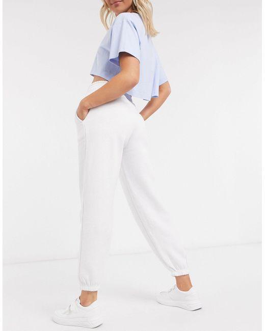 Белые Джоггеры С Манжетами -белый New Look, цвет: White