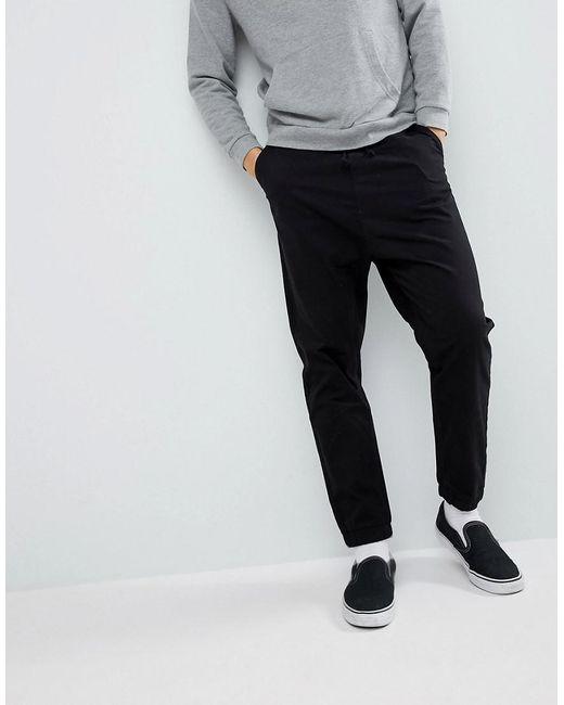 ASOS - Drop Crotch Woven Sweatpants In Black for Men - Lyst