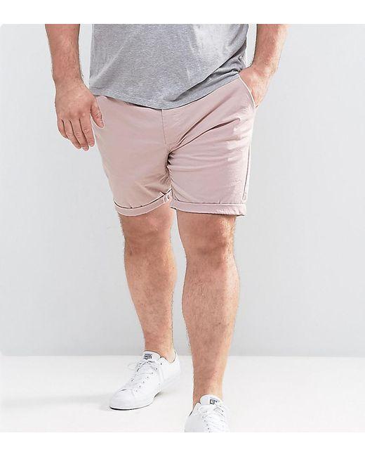 ASOS - Plus Slim Chino Shorts In Light Pink for Men - Lyst ...