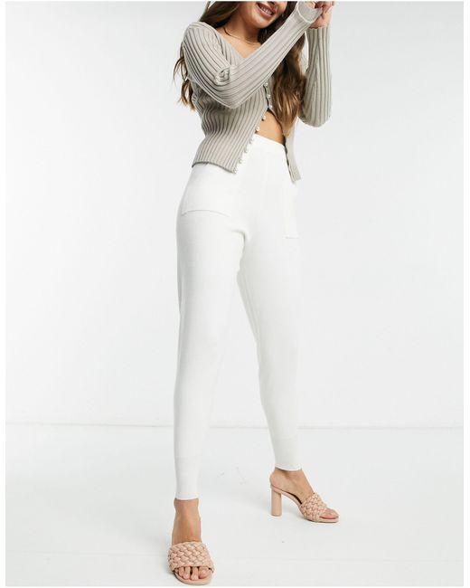 Трикотажные Джоггеры От Комплекта -кремовый Fashion Union, цвет: White