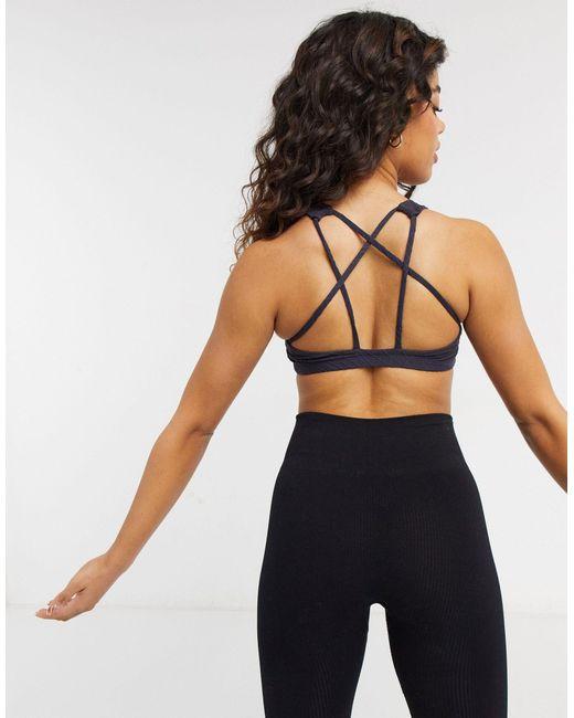 Onzie Gray Mudra Medium Support Yoga Sports Bra