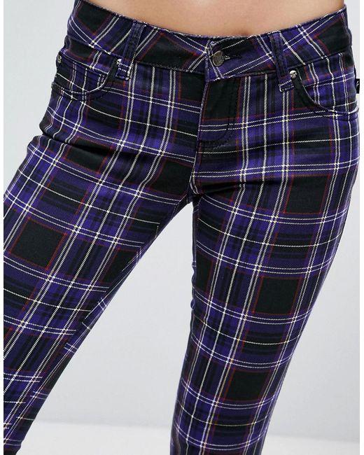 Tripp plaid skinny jeans