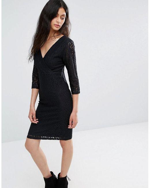 Blend She   Black Topsy Lace Dress   Lyst
