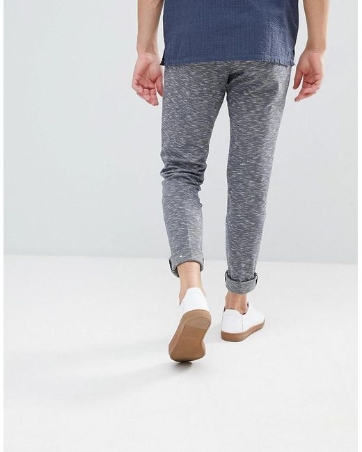 Skinny Fit Space Dye Trouser - Navy Noak MdmyguiMY
