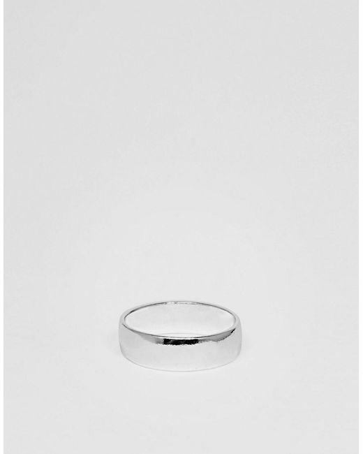 ASOS | Metallic Ring With Silver Finish for Men | Lyst