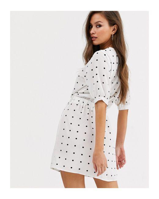 Платье В Горошек -мульти AX Paris, цвет: White