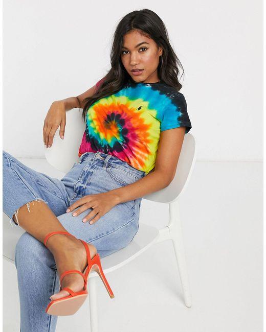 Polo Ralph Lauren Camiseta efecto teñido anudado de mujer de color azul NvsfJ
